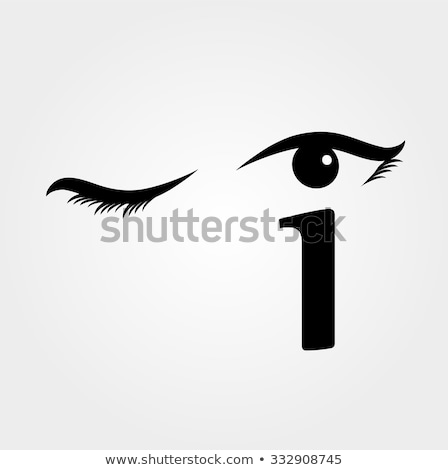 Eye winking with letter i forming the eyeball Stock photo © shawlinmohd