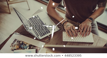 Time Management. Online Working Concept. Stock photo © tashatuvango