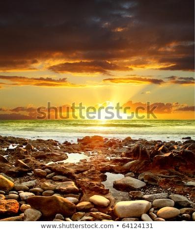 Colorido pôr do sol costa tenerife canárias Espanha Foto stock © amok