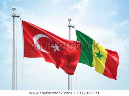 Turkey and Senegal Flags Stock photo © Istanbul2009