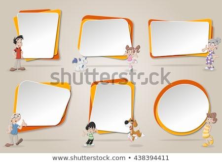 nino · marco · texto · papel · ojo · cara - foto stock © Paha_L