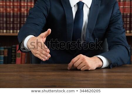 üzletember · felajánlás · kézfogás · digitális · kompozit · férfi · háttér - stock fotó © andreypopov