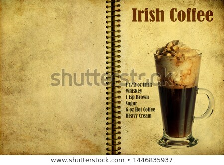 Irish cream coffee on a notebook page Stock photo © netkov1