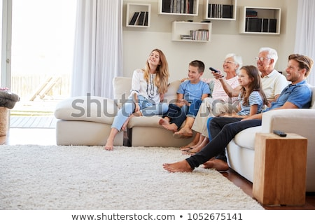 three children on sofa watching tv Stock photo © Paha_L