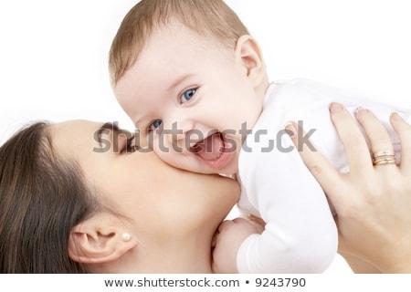 Resim mutlu anne bebek beyaz eski Stok fotoğraf © Aikon