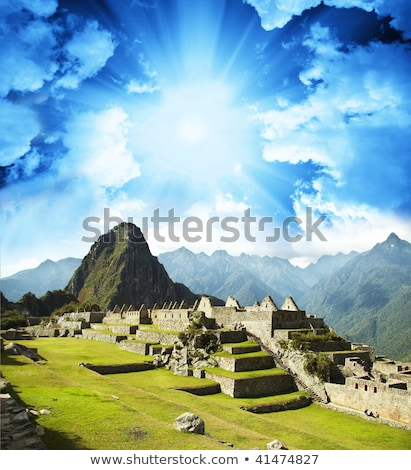 Verborgen stad Machu Picchu Peru mooie inca Stockfoto © meinzahn