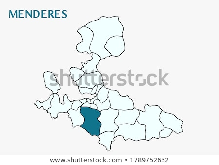 Map of Izmir - Menderes is pulled out Stock photo © Istanbul2009