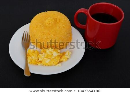 Couscous ovo frito vegetariano refeição salada madeira Foto stock © Digifoodstock