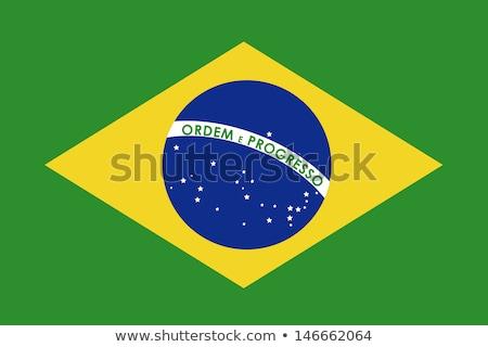 Stock photo: brazil flag over green background vector illustration