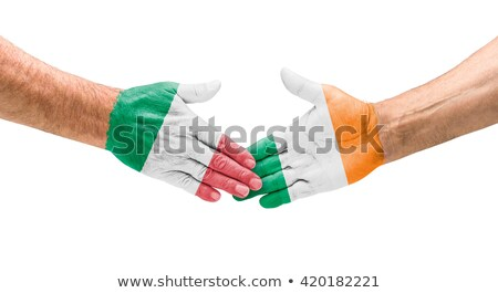 Football teams - Handshake between Italy and Ireland Stock photo © Zerbor