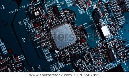 közelkép · processzor · processzor · izolált · fehér · nagy - stock fotó © njnightsky