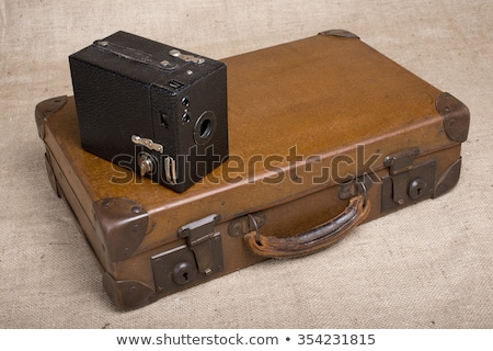 Vintage Box Brownie Camera and Case. Stock photo © lucielang