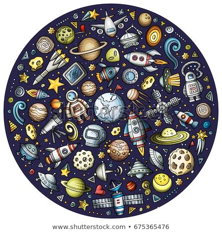 Planeta terra ilustração céu espaço satélite desenho Foto stock © bluering