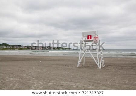 Watchtower on the empty beach in Middletown,Rhode Island, USA Stock photo © CaptureLight