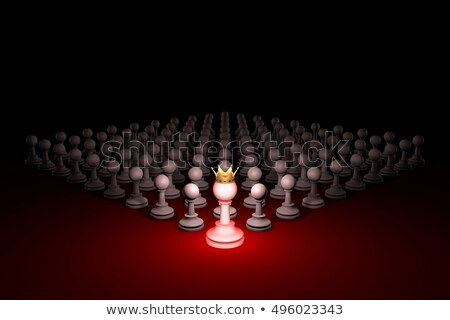 Great authority. Leader (chess metaphor). 3D render illustration Stock photo © grechka333