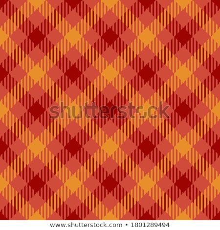 Seamless Gingham, red and orange stock photo © Oakozhan
