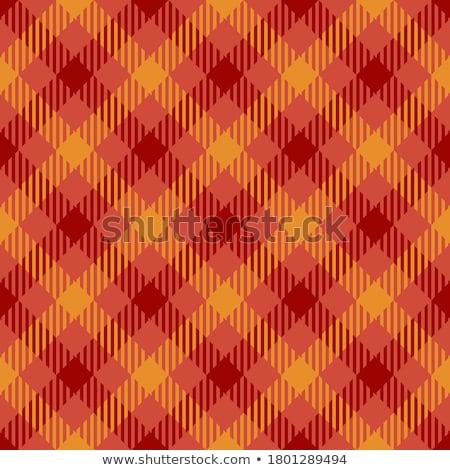 Seamless Gingham, red and orange Stock photo © Oakozhan