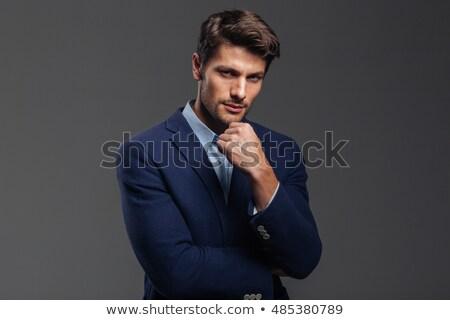 gut · aussehend · jungen · nachdenklich · Geschäftsmann · Denken · etwas - stock foto © deandrobot
