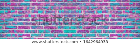ストックフォト: ターコイズ · レンガ · 背景 · 壁 · 石 · ひびの入った