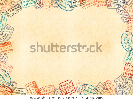 horizontal a4 size yellow sheet of old paper stock photo © evgeny89