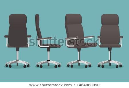 Green office chair vector illustration. Stock photo © RAStudio