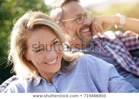 çift açık stadyum kız adam moda Stok fotoğraf © racoolstudio