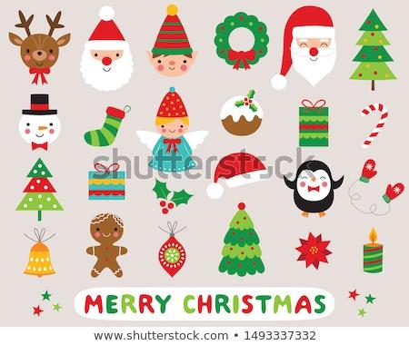 Рождества · венок · икона · праздник · украшение · иллюстрация - Сток-фото © kali