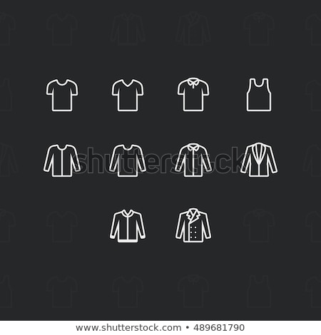 fashion clothes icons 2 pixel stroke 60x60 resolution outline vector icons for web and mobile stock photo © said
