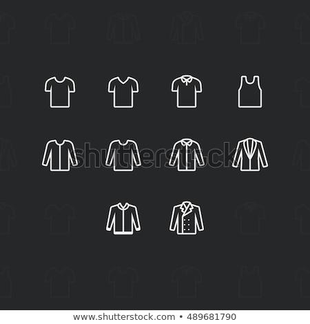 divat · ruházat · ikonok · pixel · döntés · skicc - stock fotó © Said
