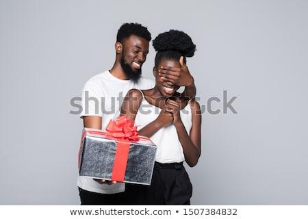Pareja · celebrar · Navidad · ilustración · hombre · luna - foto stock © adrenalina