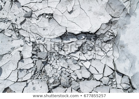 Piece of broken fractured rock on white Stock photo © ozgur