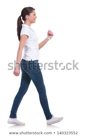 woman in Walking pose on white background Stock photo © Istanbul2009