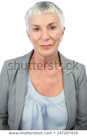 woman in stern pose on white background Stock photo © Istanbul2009