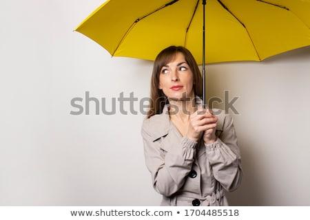 Mulher guarda-chuva belo mulher jovem chuva Foto stock © piedmontphoto