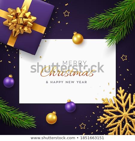 紫色 クリスマス ギフト ツリー 緑 青 ストックフォト © janssenkruseproducti