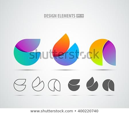 şık · modern · şablon · vektör · dizayn - stok fotoğraf © sarts