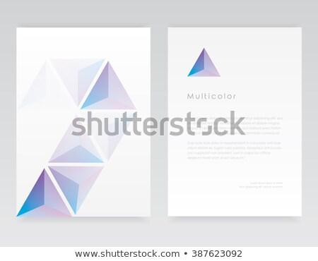 Minimal weiß Briefkopf Vorlage Vektor Design Stock foto © SArts
