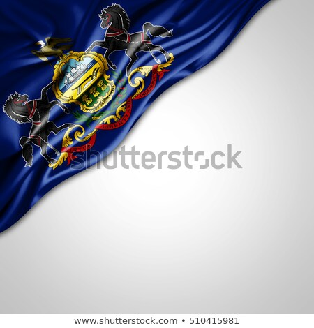 USA State Pennsylvania flag on white background. Stock photo © tussik