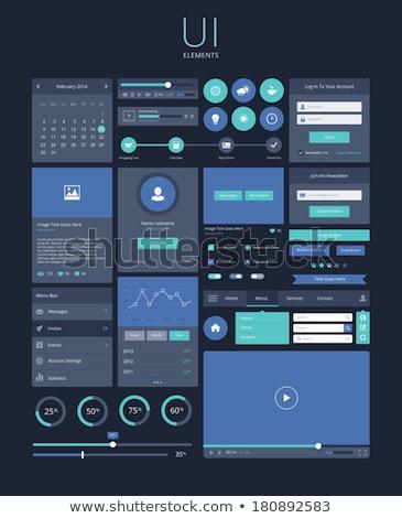Donkere gebruiker interface ontwerp inloggen sjabloon Stockfoto © SArts