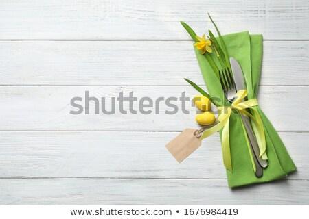 Pasqua · colorato · uova · giallo · tulipani · coniglio - foto d'archivio © mythja