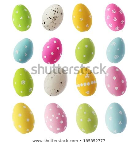 Stock fotó: Húsvéti · tojások · izolált · fehér · húsvét · tavasz · festék