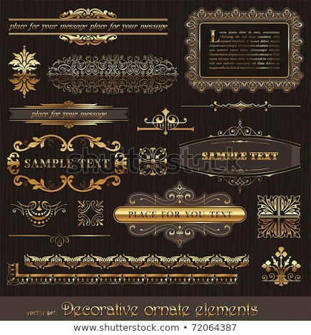 Golden decorative calligraphic dividers for design and page decoration - vector set Stock photo © blue-pen