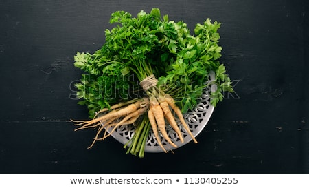 Frescos perejil raíz blanco alimentos saludable Foto stock © Digifoodstock