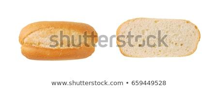 Francia kenyér tekercsek kettő friss fehér háttér kicsi Stock fotó © Digifoodstock