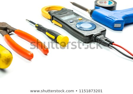 Soldering tools on white background Stock photo © clarion450