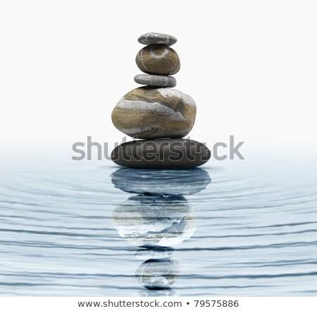 Foto d'archivio: Zen · rocce · acqua · riflessione · pietra
