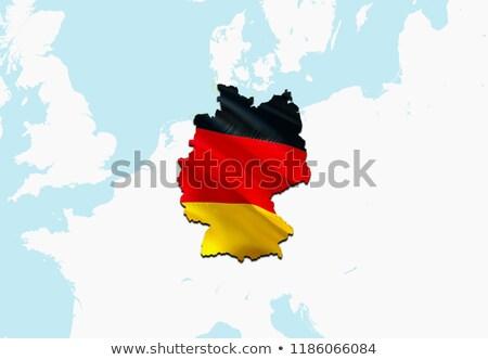 federal · cumhuriyet · Almanya · bayrak · kuru · toprak - stok fotoğraf © drizzd