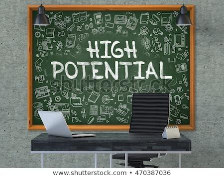 Groene schoolbord hoog potentieel doodle Stockfoto © tashatuvango