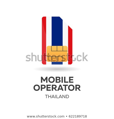 Thailand mobile operator. SIM card with flag. Vector illustration. Stock photo © Leo_Edition