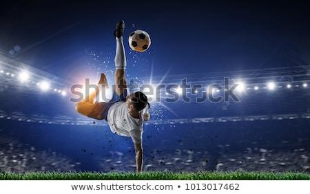 jeden · piłka · nożna · stałego · piłka · gotowy - zdjęcia stock © blotty